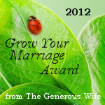 Grow Your Marriage Award 2012