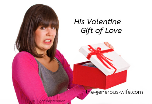 His Valentine Gift of Love - It's an expression of his love.