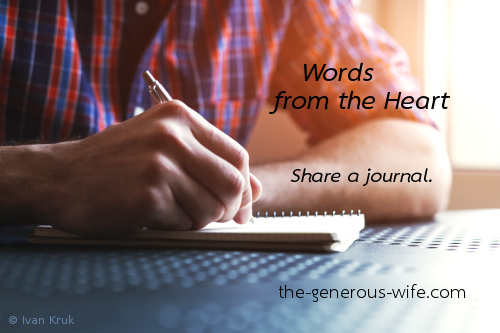 Words from the Heart - Share a journal.