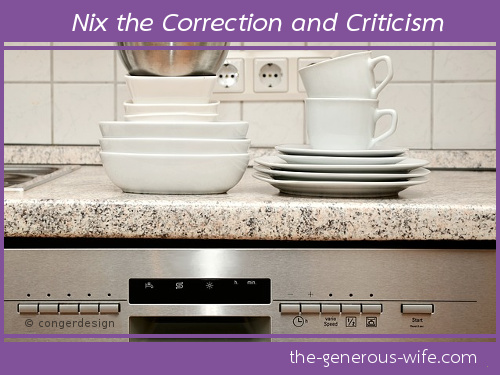 Nix the Correction and Criticism - Say thank you for all he does.