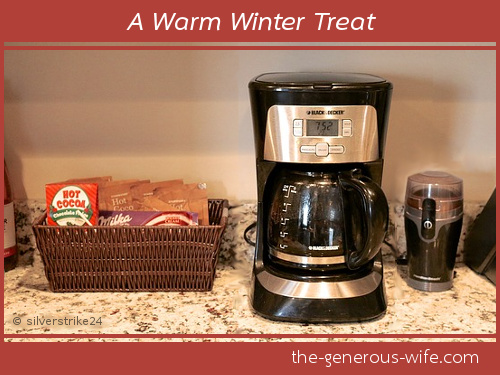 A Warm Winter Treat - Create a hot drink center for your home.