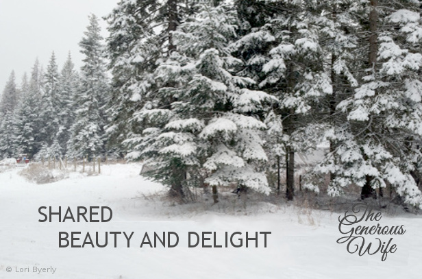 Shared Beauty and Delight - Invite your sweetie to share the view.