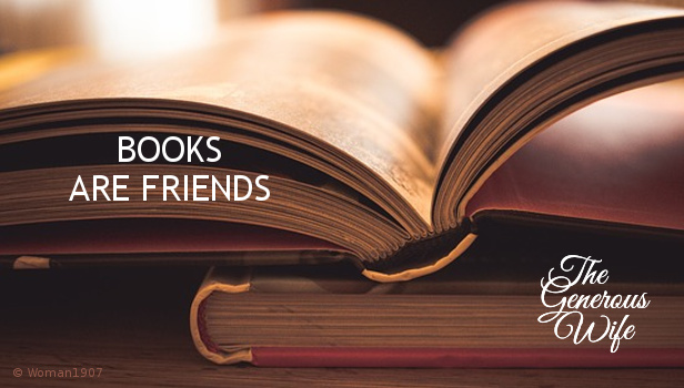 Books Are Friends - Marriage books are like good friends who give you great marriage advice.