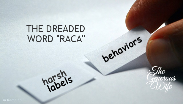 "The Dreaded Word ""Raca"" - Drop the harsh labels and find kind words to talk about behaviors."