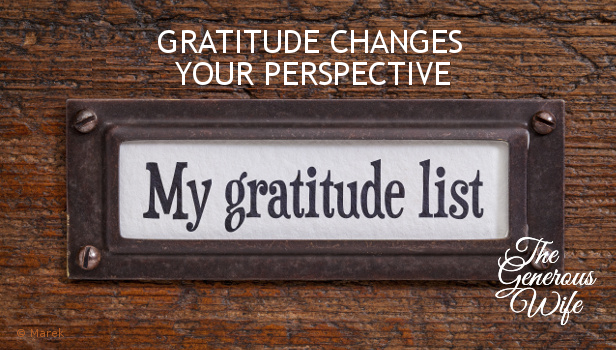 Gratitude Changes Your Perspective - Nothing has changed significantly over the last few months, but my attitudes have changed.