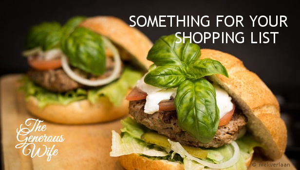 Something for Your Shopping List - Pick up the ingredients for your husband's favorite meal.