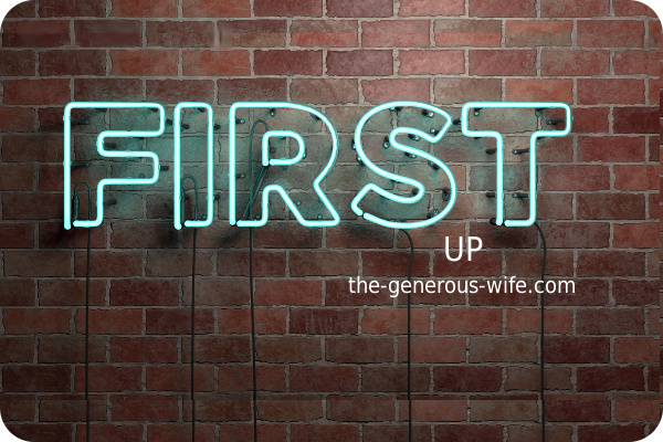 """neon sign saying """"first"""""""